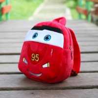Tas Ransel Backpack Sekolah Anak Paud Boneka Karakter Cars Mcqueen