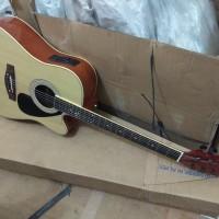 Gitar akustik elektrik Cort Eq7545r Natural