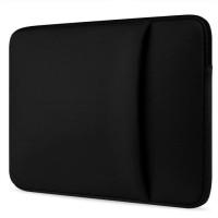 Tas Laptop Softcase Macbook Laptop 13 inch Neoprene Zipper - Black