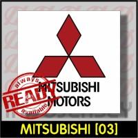 Patch Stiker Setrika Flock Logo - MITSUBISHI [03]