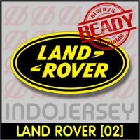 Patch Stiker Setrika Flock Logo - LAND ROVER [02]