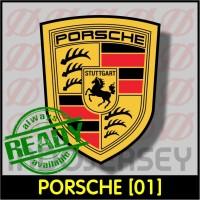Patch Stiker Setrika Flock Logo - PORSCHE [01]