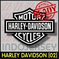 Patch Stiker Setrika Flock Logo - HARLEY DAVIDSON [02]
