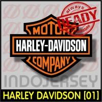 Patch Stiker Setrika Flock Logo - HARLEY DAVIDSON [01]