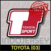Patch Stiker Setrika Flock Logo - TOYOTA [03]