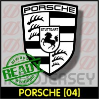 Patch Stiker Setrika Flock Logo - PORSCHE [04]