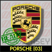 Patch Stiker Setrika Flock Logo - PORSCHE [03]