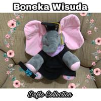 Boneka Wisuda / Boneka Toga / Boneka Wisuda Gajah / Boneka Sarjana Top
