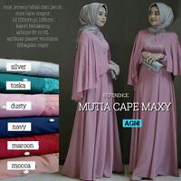 Dress Gamis Mutia Cape Maxi Bahan Jersey Super