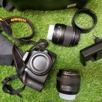 DSLR NIKON D3200 KIT + Lensa AFS 50mm