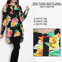 Blouse branded- ODN TUNIC BIG FLORAL