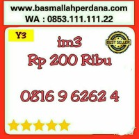 Nomor Cantik im3 10 digit Abab 0816 9 62 62 4 rapih Y5 989