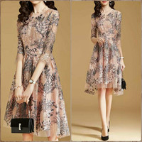 CW-169 S-2XL Dress impor dress pesta midi dress gaun pesta