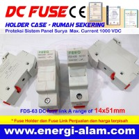 DC FUSE HOLDER CASE 14x51mm / Rumah Sekering PV Solar Panel Surya