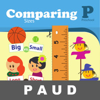 Comparing Sizes Buku Aktivitas Mengenal Gambar Mewarnai Anak PAUD
