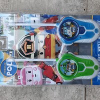 mainan walkie talkie robocar poli - HT polisi ' anak edukatif