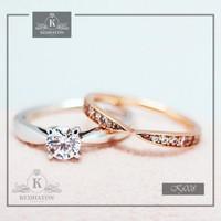 cincin kawin platinum dan emas kuning k125