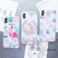 Spring embossed case ip iphone 5 5s se 6 6s 6+ 7 plus 8 8+ X f1s a37