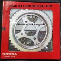 Original Gear Set Tiger Honda Rantai Komplit GirSet Depan Belakang AHM