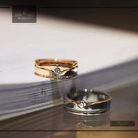 cincin kawin palladium dan emas kuning k126