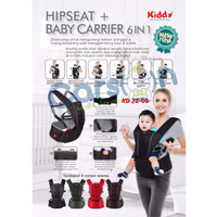 Kiddy Gendongan Hipseat 6 in 1 / Kiddy hipseat Baby Carrier 6in1