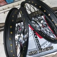 Sepaket Velg Rossi Ring 17 Lebar 185 Sama 215 Motor Rx King-Njmx 1Set