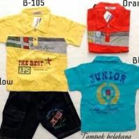 Best Quality Baju Fashion Setelan Kaos Wangky Polo Celana Denim Anak