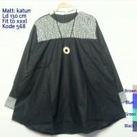Blouse Jumbo Kode 568 3XL Serut Lengan Baju Atasan Wanita