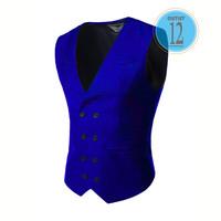 Vest terbaru - fashion anak kuliahan - biru - super keren- daleman jas