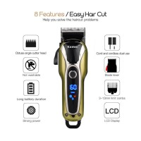 Original KEMEI Alat Cukur Rambut Turbo Hair Clipper Cordless KM-1990