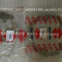 paket piringan cakram dan belakang satria FU FI 150 injeksi original