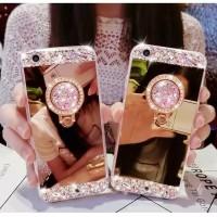 Soft Case Oppo F1/F1f/A35 Mirror Bling Diamond Cover Ring Rhinestone