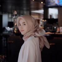 Jilbab Hijab Kerudung Organza Polos Segi Empat
