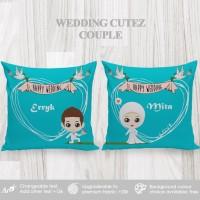Bantal Custom Kado Wedding / Souvenir - Wedding Cutez Couple