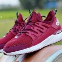 Sepatu Adidas Alphabounce Lokal Maroon
