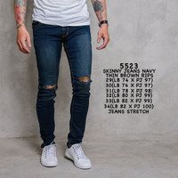 Skinny jeans/ripped jeans/celana jeans/jeans pria