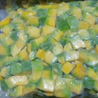 Buah Alpukat Mentega Avocado Potong Kotak Beku Frozen Super Premium