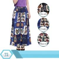 Celana Kulot Anak Usia 6-11tahun Bahan Katun Linen Motif abstrak