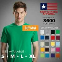 Kaos Polos NEW STATES APPAREL (NSA) 3600 SOFTSTYLE MURAH S M L XL