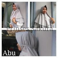 Hijab Khimar 2 Layer Pet Tali Syari menutup dada