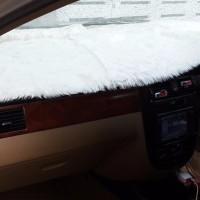 jual Alas Bulu Cover Penutup Dashboard Bulu Pendek Mobil Putih