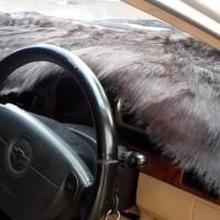 jual Alas Bulu Cover Penutup Dashboard Mobil Bulu Panjang Warna Hitam