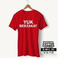 Baju Pria Kaos Muslim PS-LSMSZN661 YUK BERZAKAT 2 - Putih, M