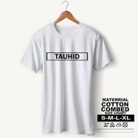Baju Pria Kaos Muslim PS-LSMSZN648 TAUHID 3 - Putih, M