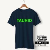 Baju Pria Kaos Muslim PS-LSMSZN647 TAUHID 2 - Putih, M