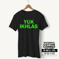 Baju Pria Kaos Muslim PS-LSMSZN665 YUK IKHLAS 1 - Putih, S