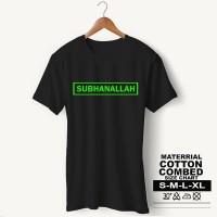 Baju Pria Kaos Muslim PS-LSMSZN629 SUBHANALLAH 3 - Putih, S
