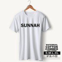 Baju Pria Kaos Muslim PS-LSMSZN643 SUNNAH 2 - Putih, S