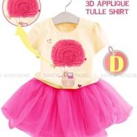 Baju Anak Import Branded Setelan Rok Tutu Anak Perempuan Air Baloon