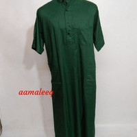 Gamis jubah lengan pendek hijau daun
